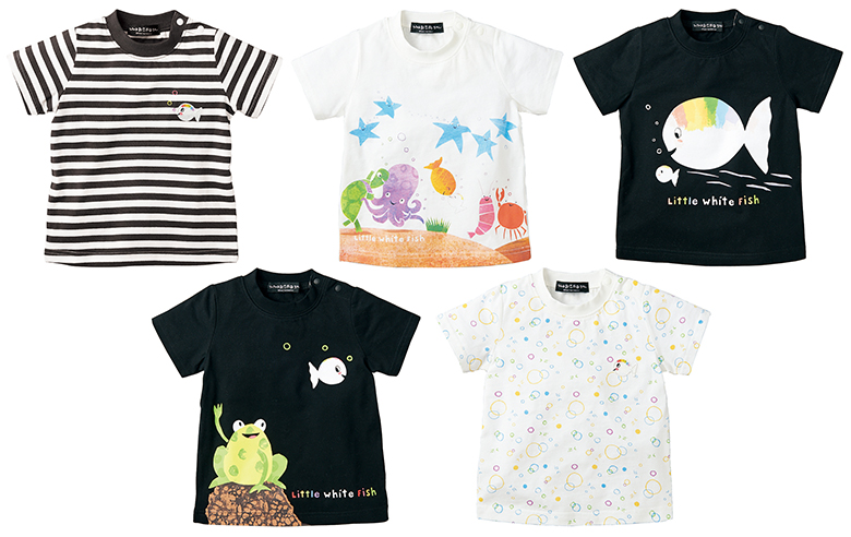 c878d5e7ab8f6 絵本から飛び出した、上品でセンスの良いアートワークと個性的なキャラクターが、鮮やかなコントラストでTシャツにデザインされています。Tシャツはいずれもユニ  ...