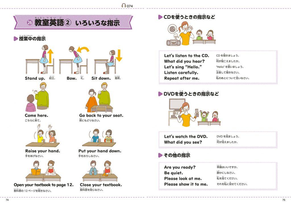 ▲教室英語:授業で先生がよく使う英語がわかる