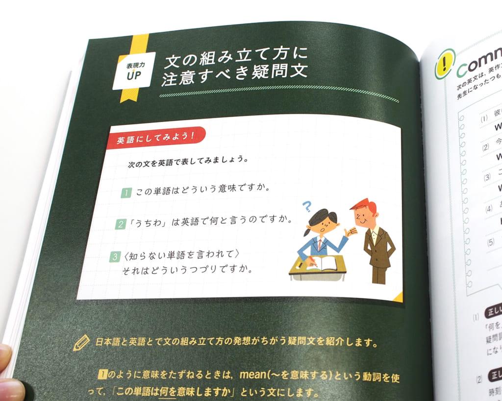 ▲「表現力UPコラム」では、日本語から英語に訳すポイントを、問題形式で学ぶことができます。