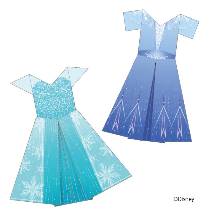 「エルサのドレスおりがみ」画像