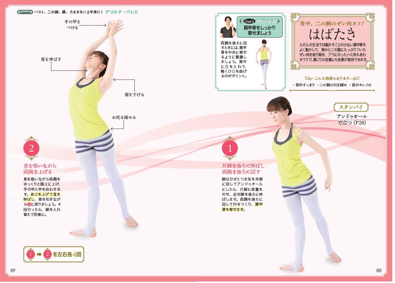 「立って行う背中&二の腕やせエクササイズ」本誌紙面