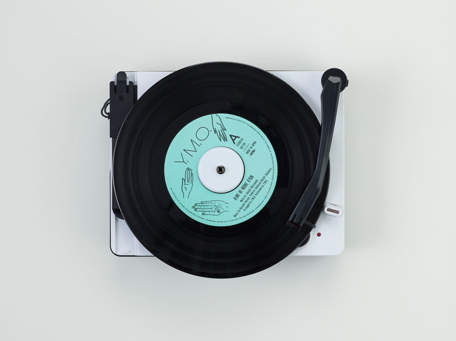 「EPアダプタが付属しているのでドーナツ盤も聴くことができます」画像