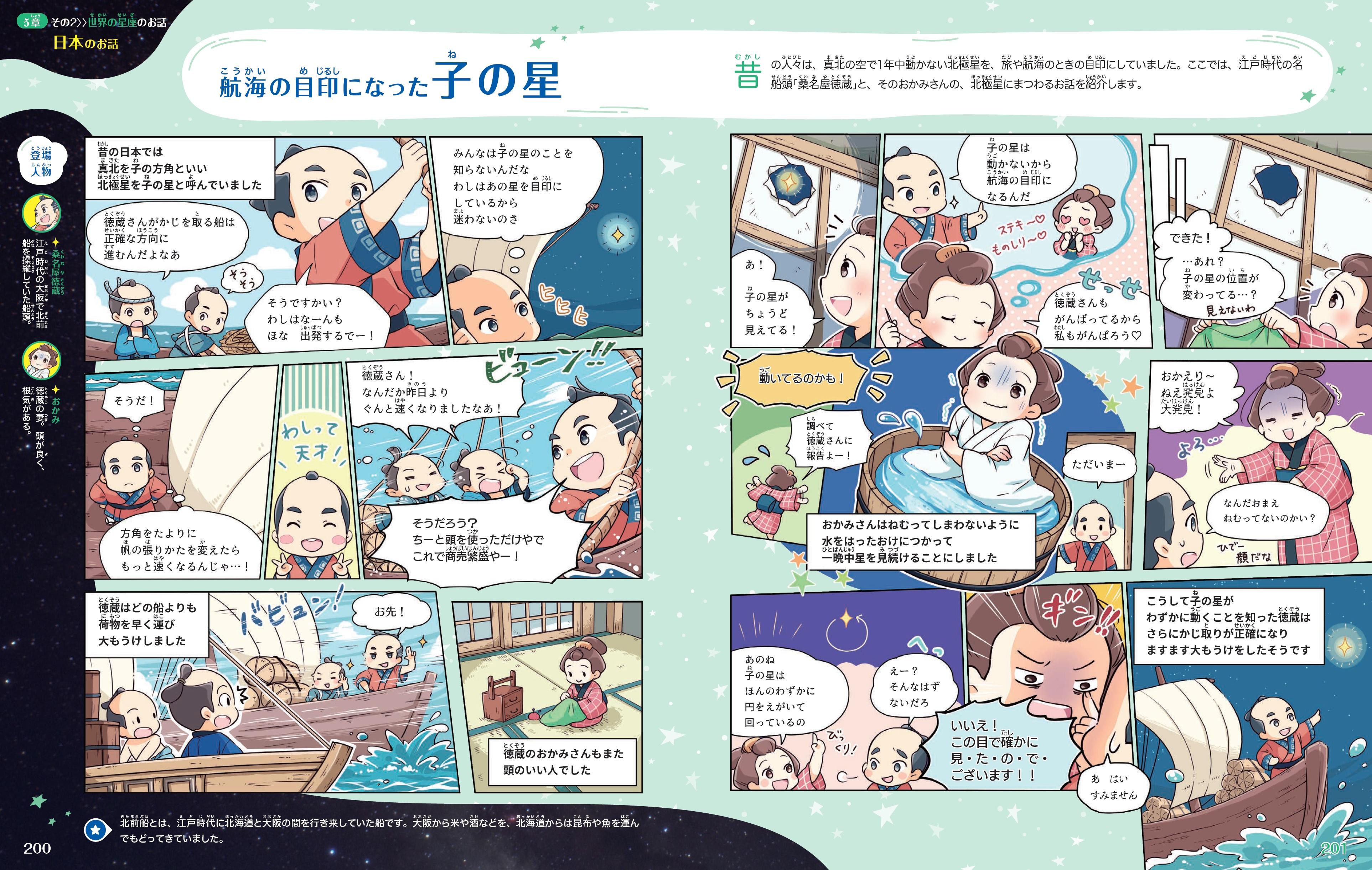 「日本につたわる星の話」本誌紙面