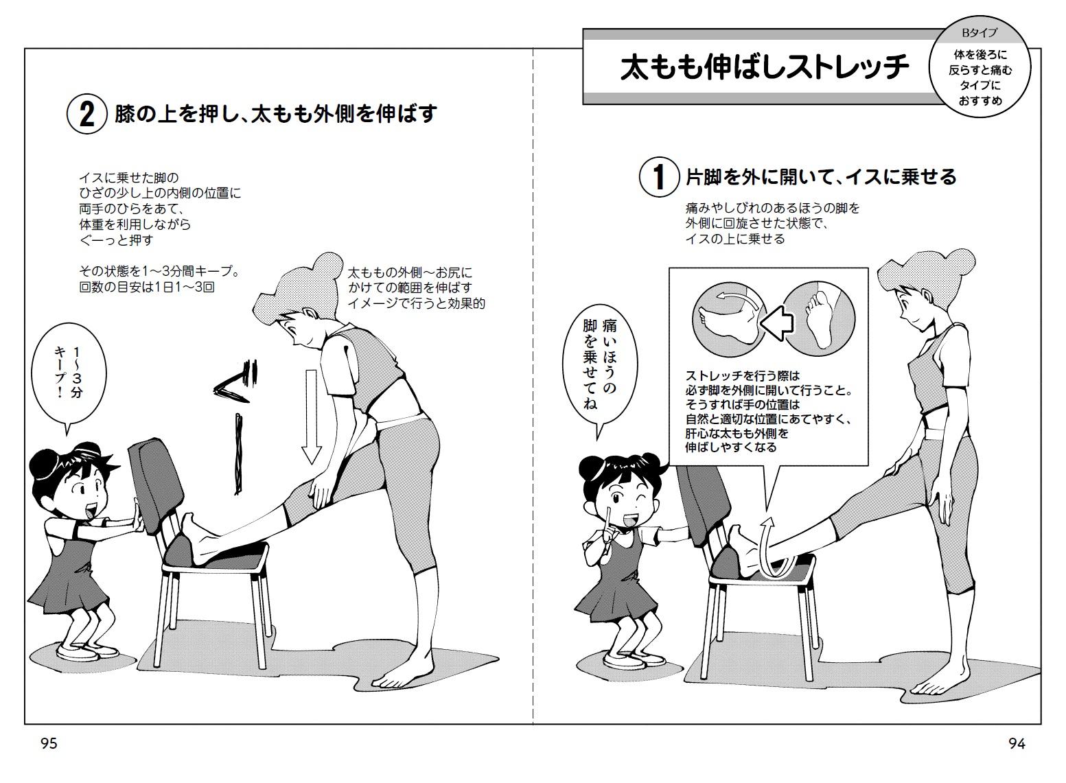 「腰痛解消に効果的なセルフケア方法を、マンガでわかりやすく表現」紙面