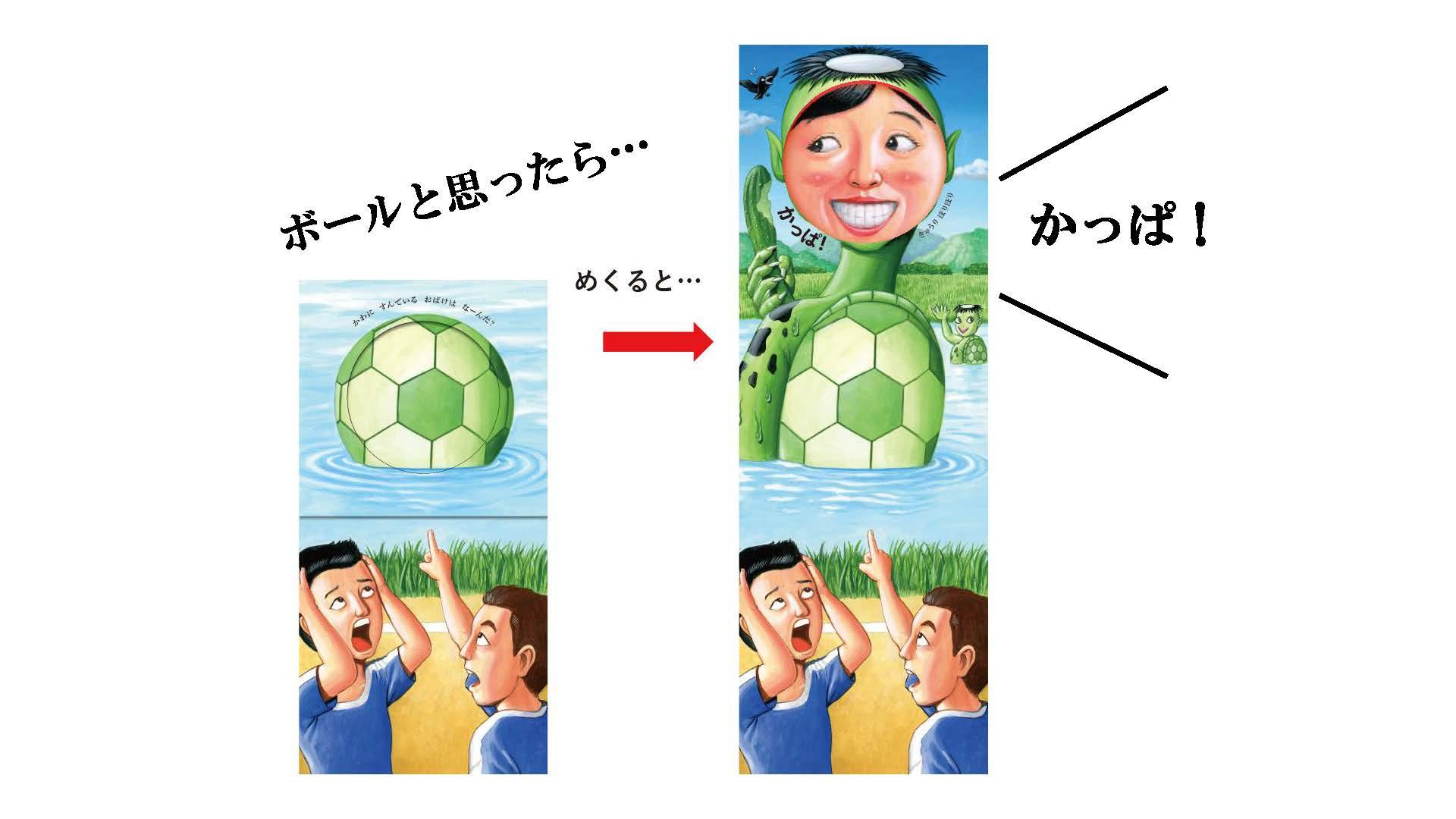 サッカーボールが「かっぱ」になった 画像