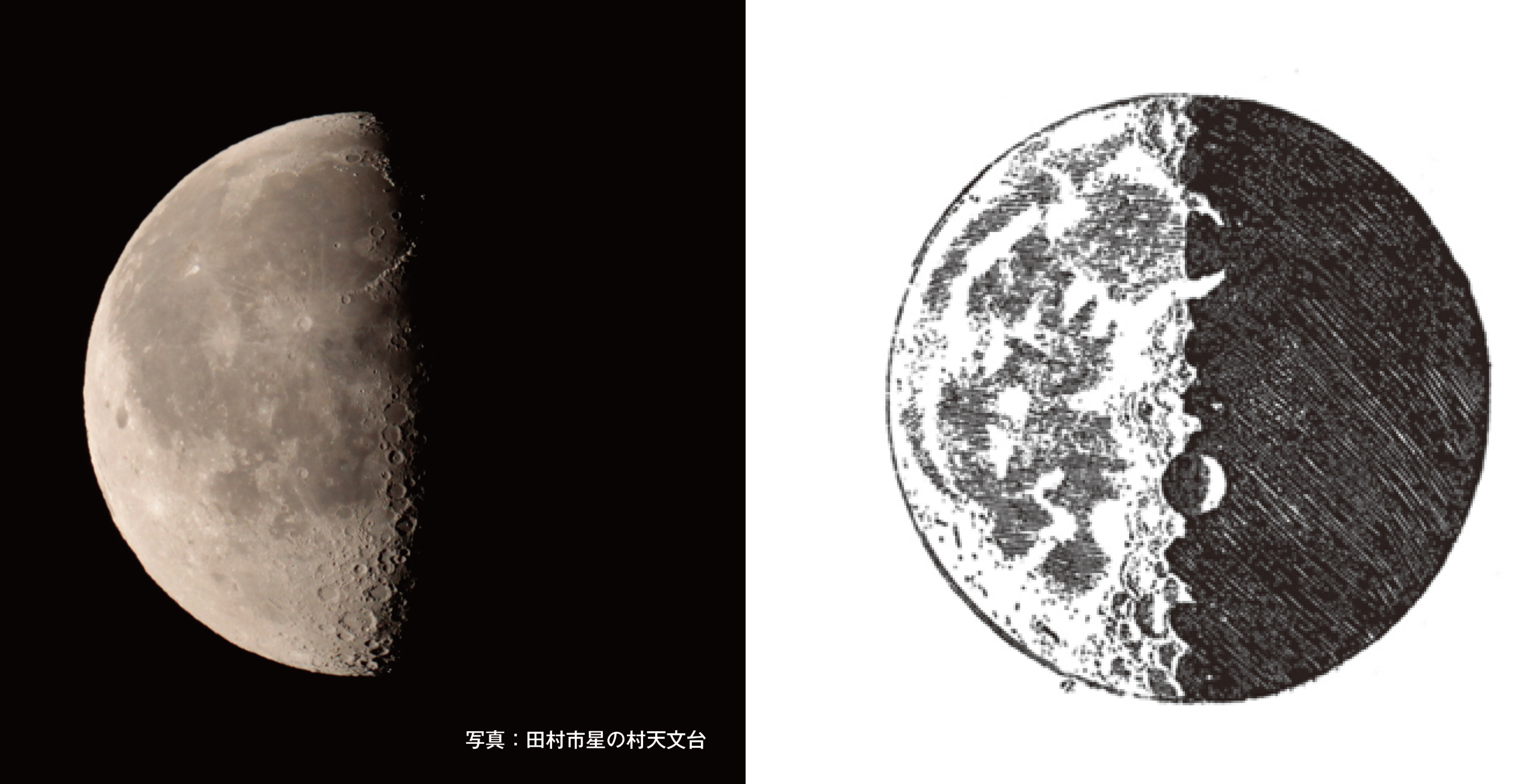 「月のイメージ、ガリレオのスケッチ」画像