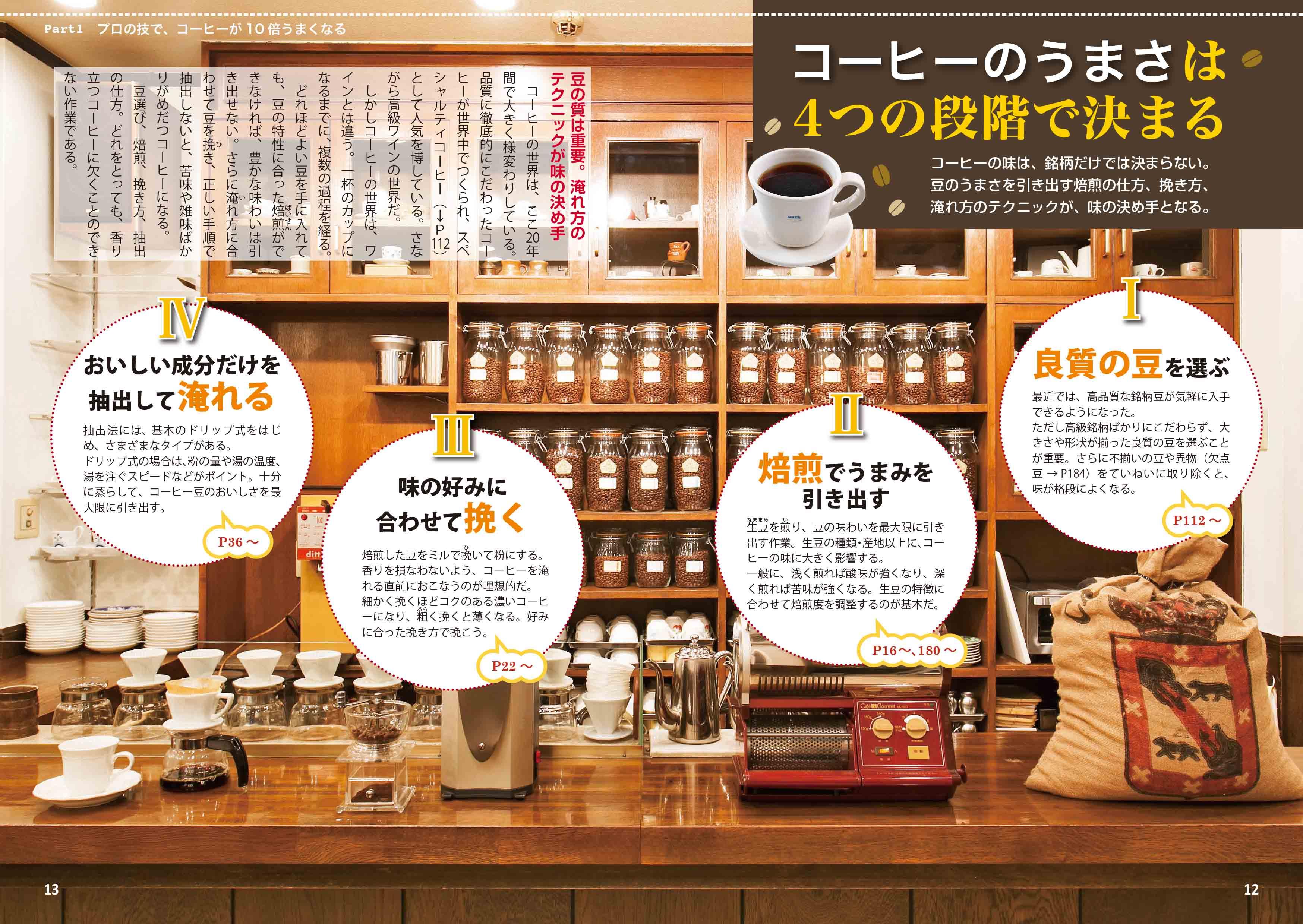 「コーヒーのうまさは4つの段階で決まる」紙面