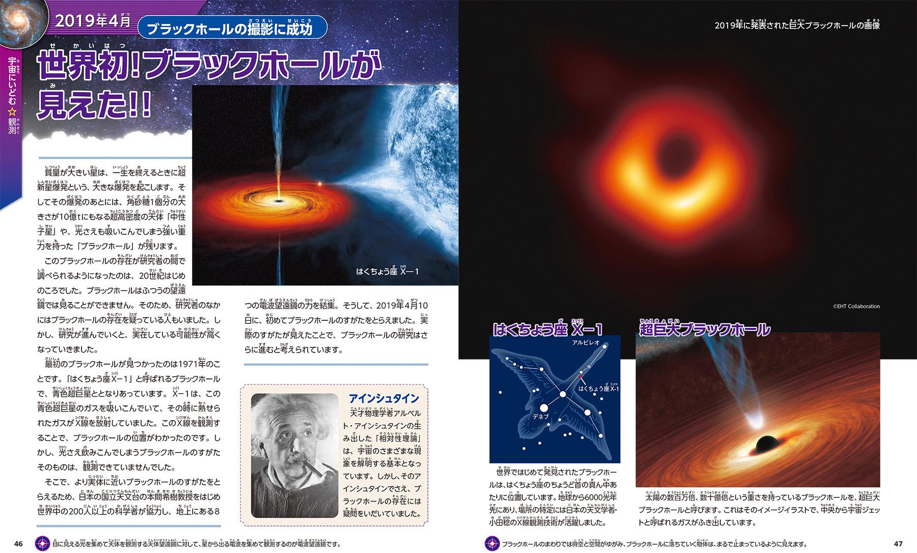 「ブラックホールが見えた」紙面