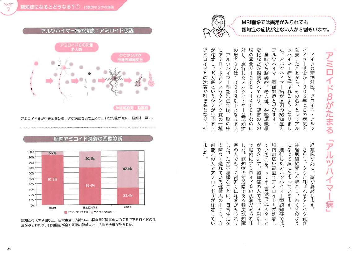 「認知症の原因とされる病気についても解説」紙面