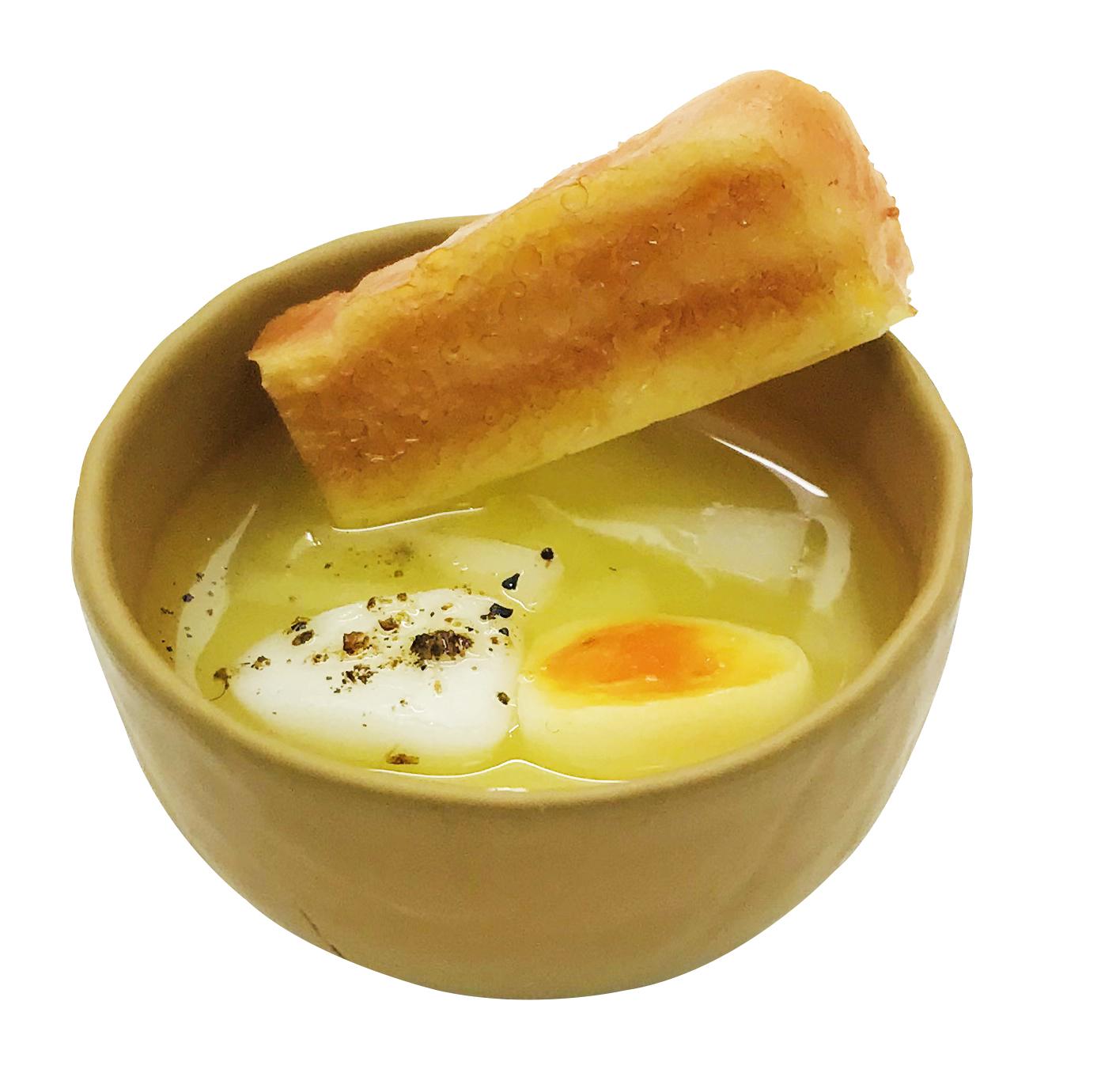 「落とし卵+玉ねぎ」画像
