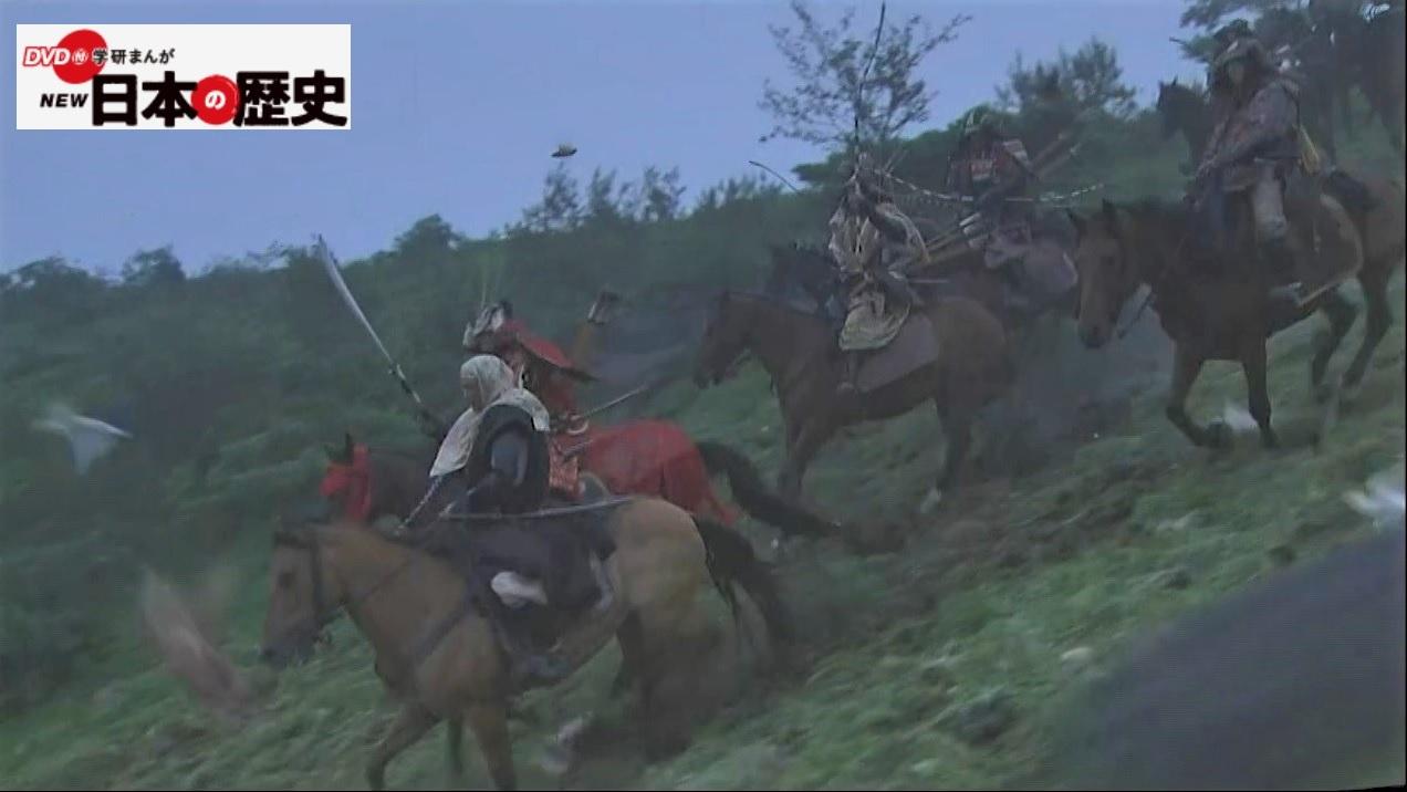 「疾走する騎馬武者」画像