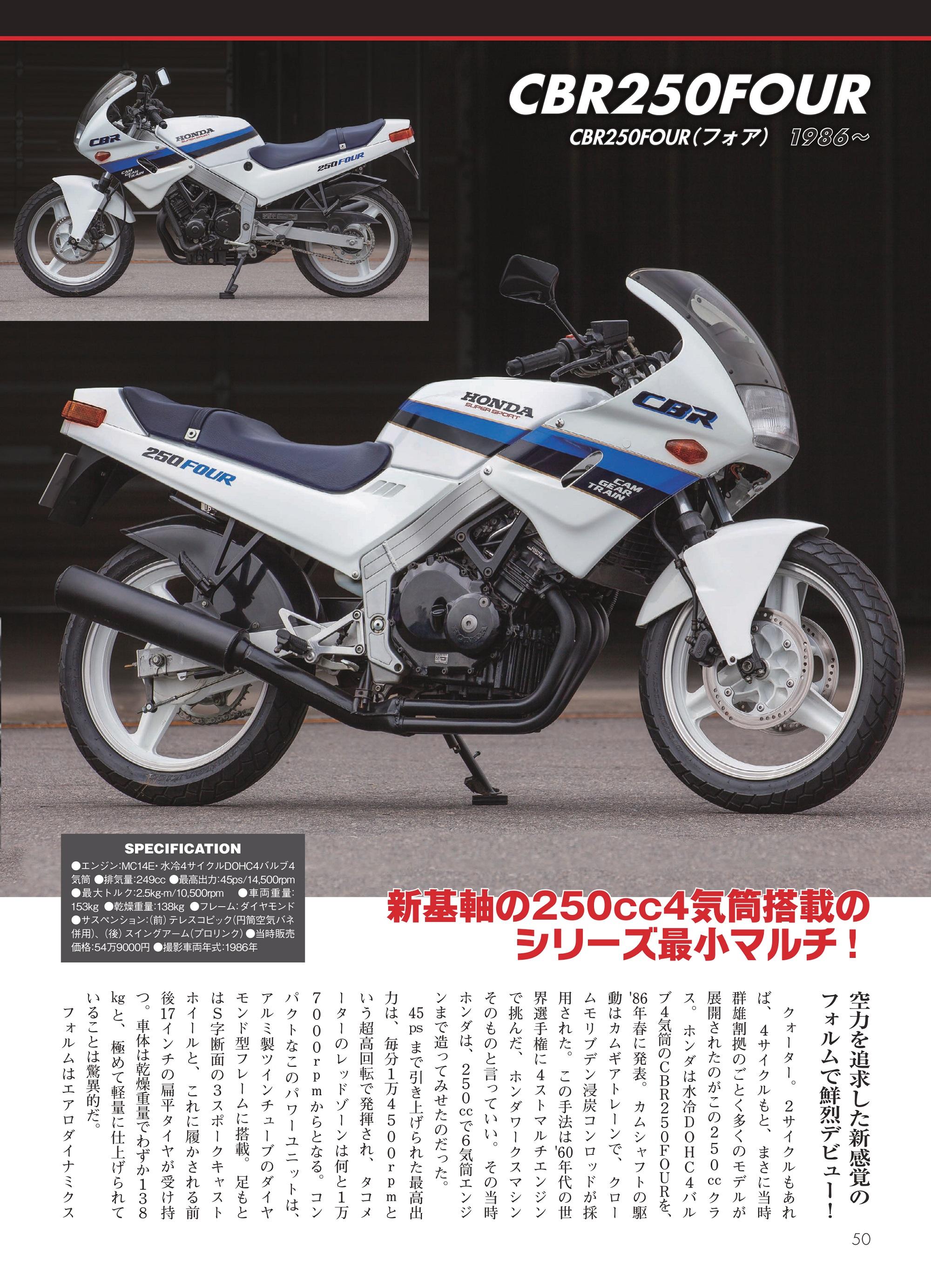「CBR250FOUR」紙面