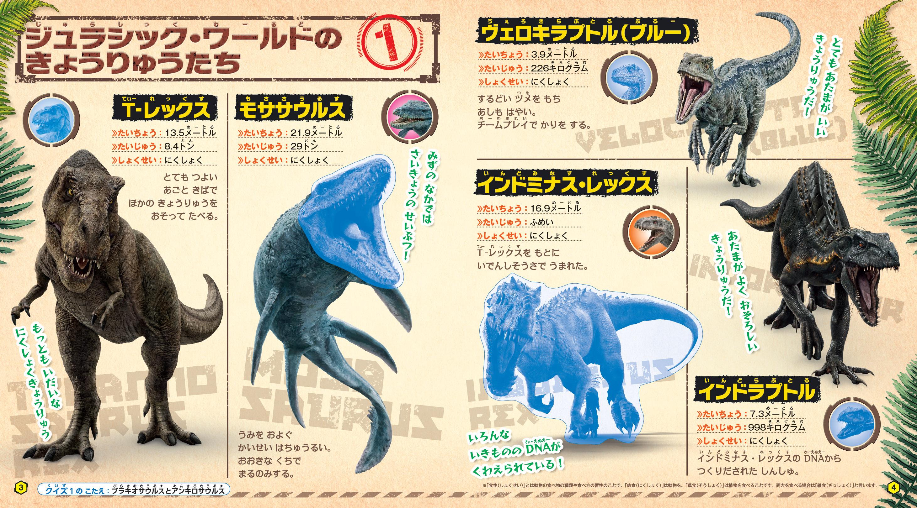 「たくさんの種類の恐竜が登場」紙面