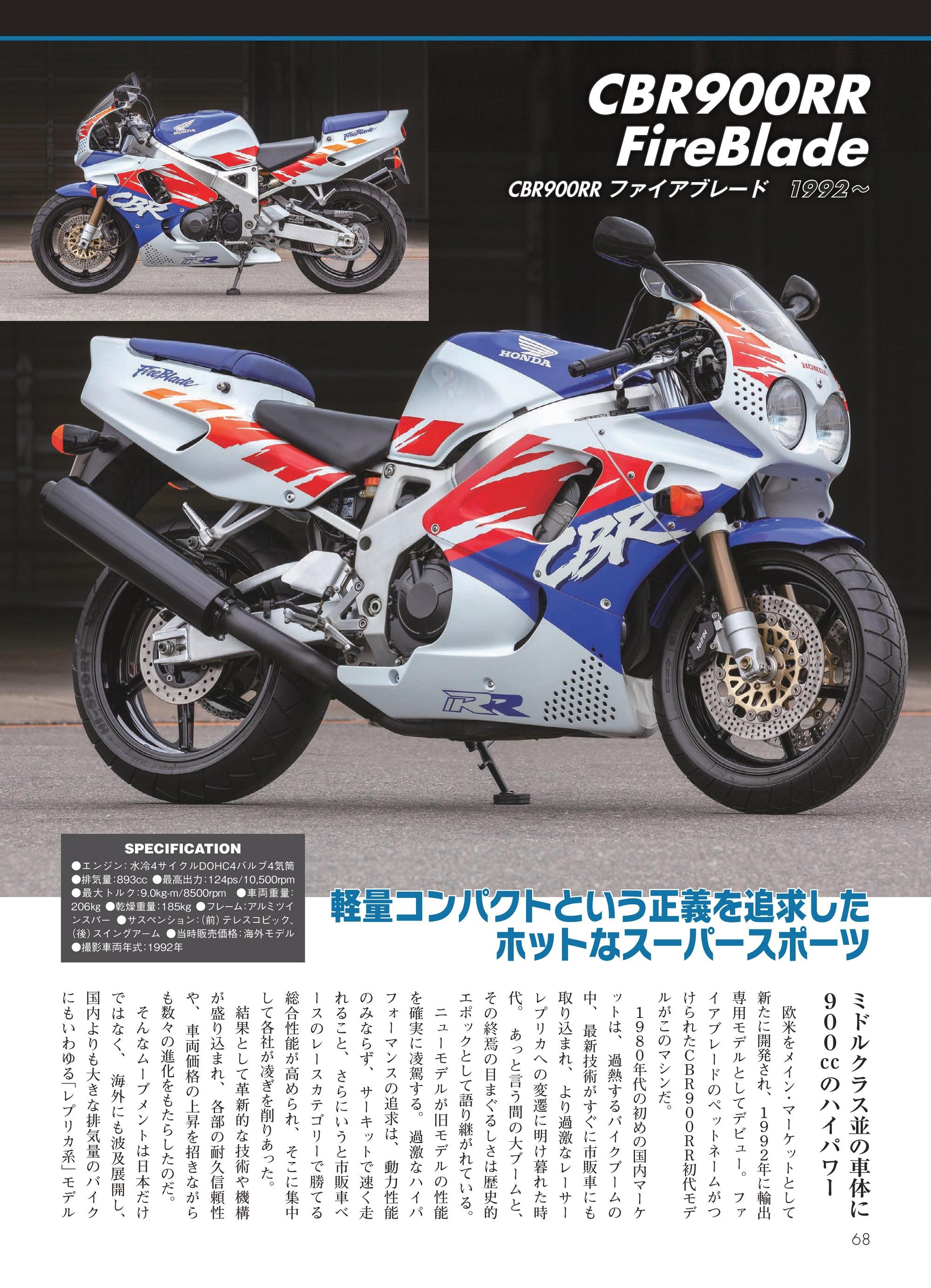 「CBR900RR FireBlade」紙面