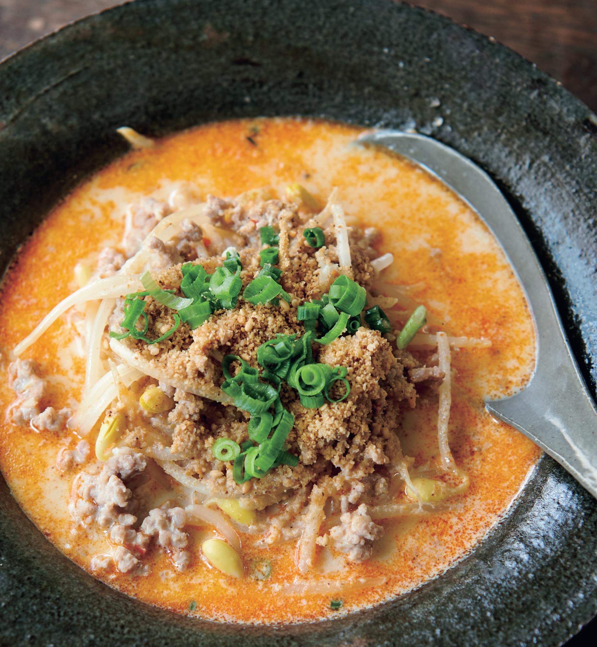 「ちょい辛いスープもたくさん発汗を促します」紙面