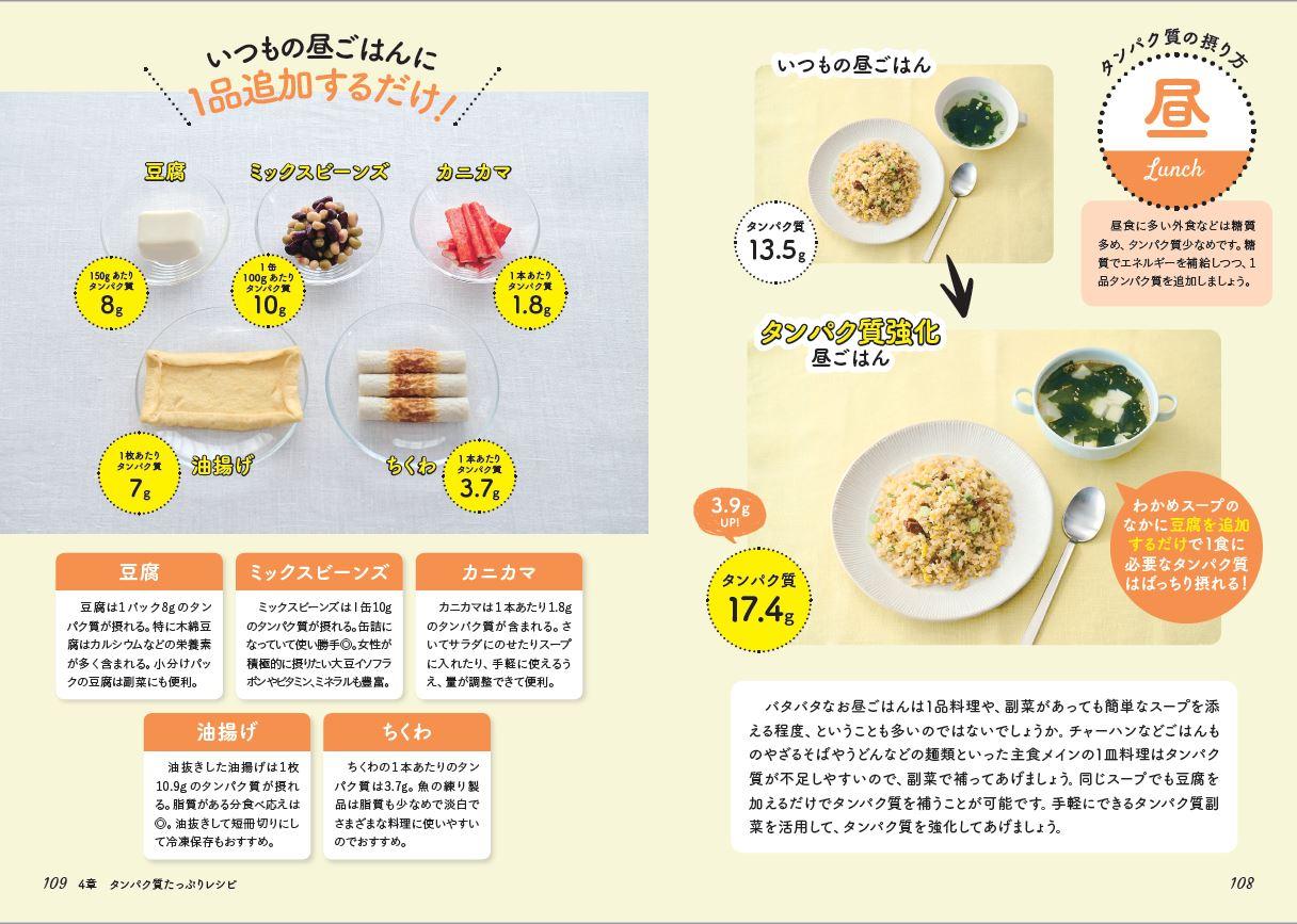 「タンパク質レシピ」紙面