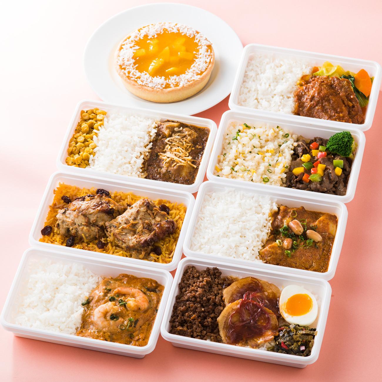 「台湾の叉焼肉飯やタイのマッサマンカレーなど」画像