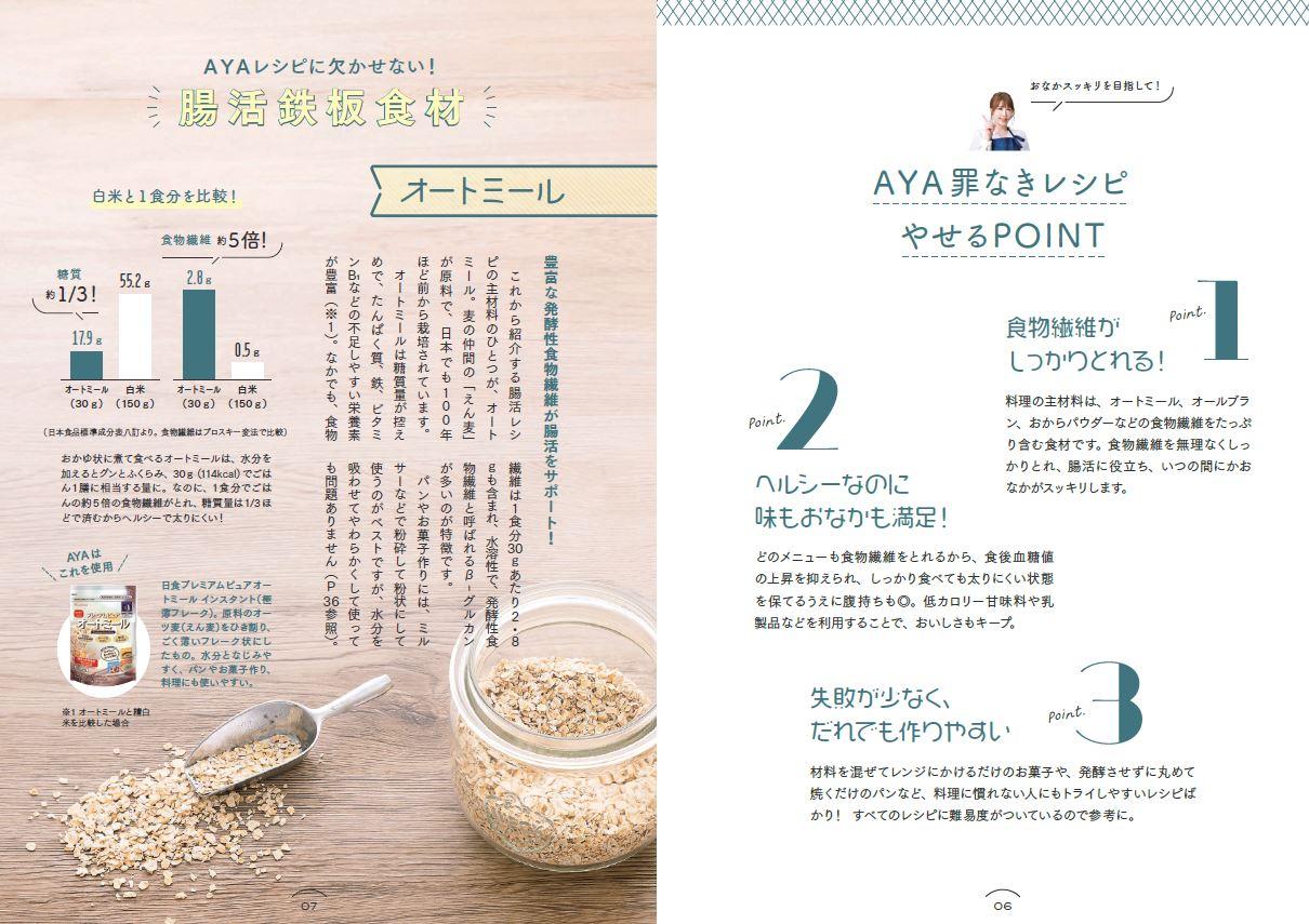 「オートミールをはじめ、おからパウダー、オールブランは食物繊維が豊富でダイエットには最適の食材トリオ」紙面