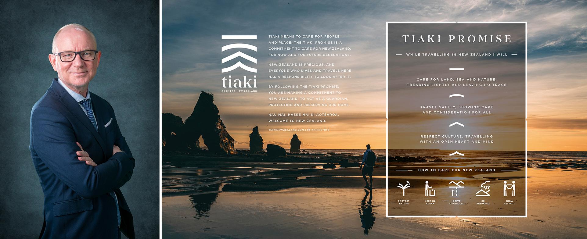 「ニュージーランド政府観光局 グレッグ・ワッフルベイカー氏とティアキ・プロミス」画像