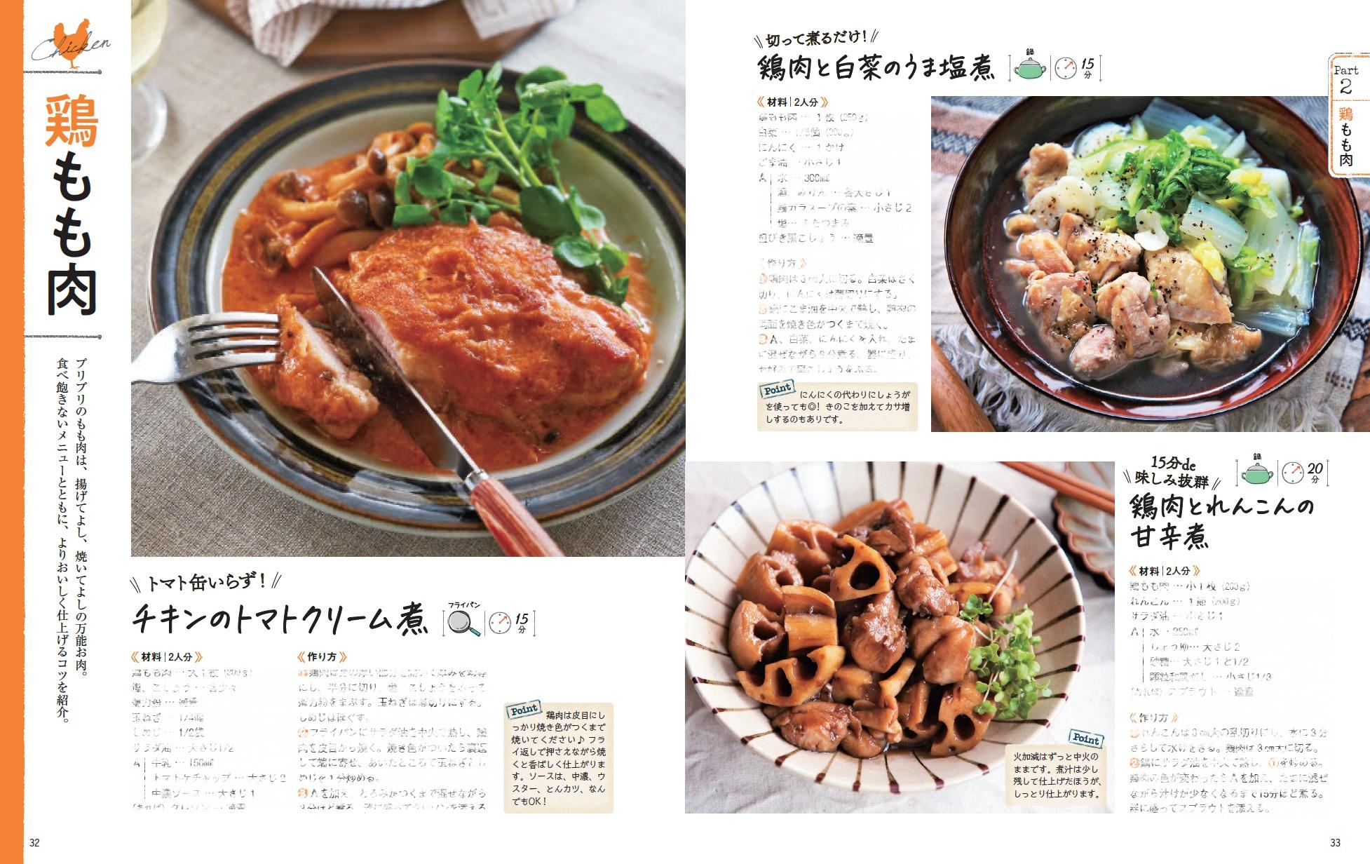 「鶏もも肉のレシピ」紙面