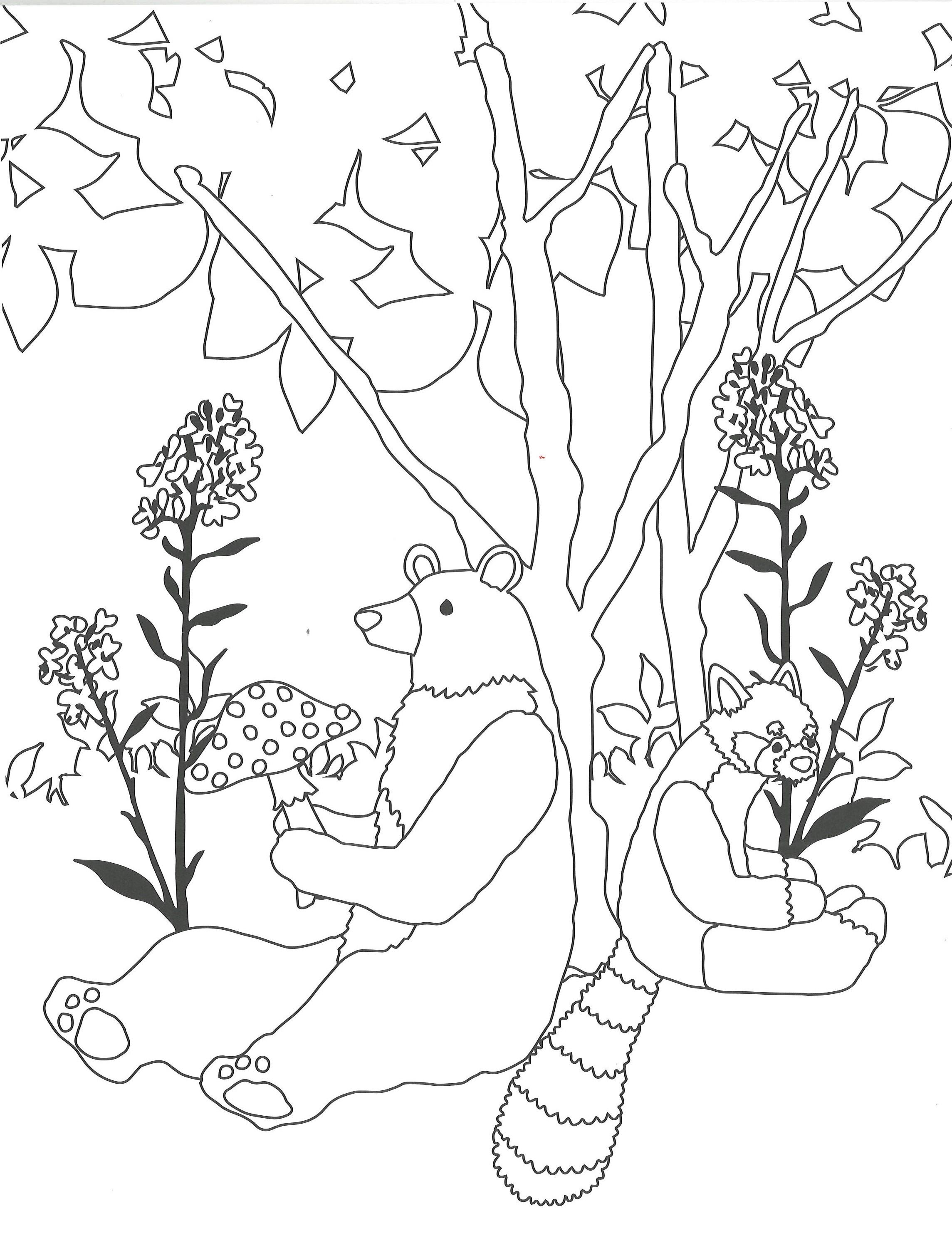 「動物を中心とした幻想的な絵柄」紙面